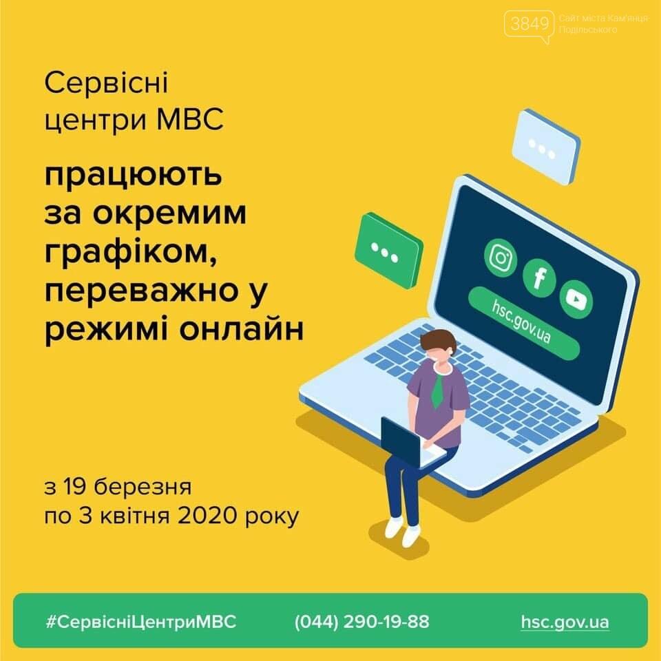 У Кам'янці-Подільському сервісний центр МВС на період карантину переходить в онлайн режим, фото-1
