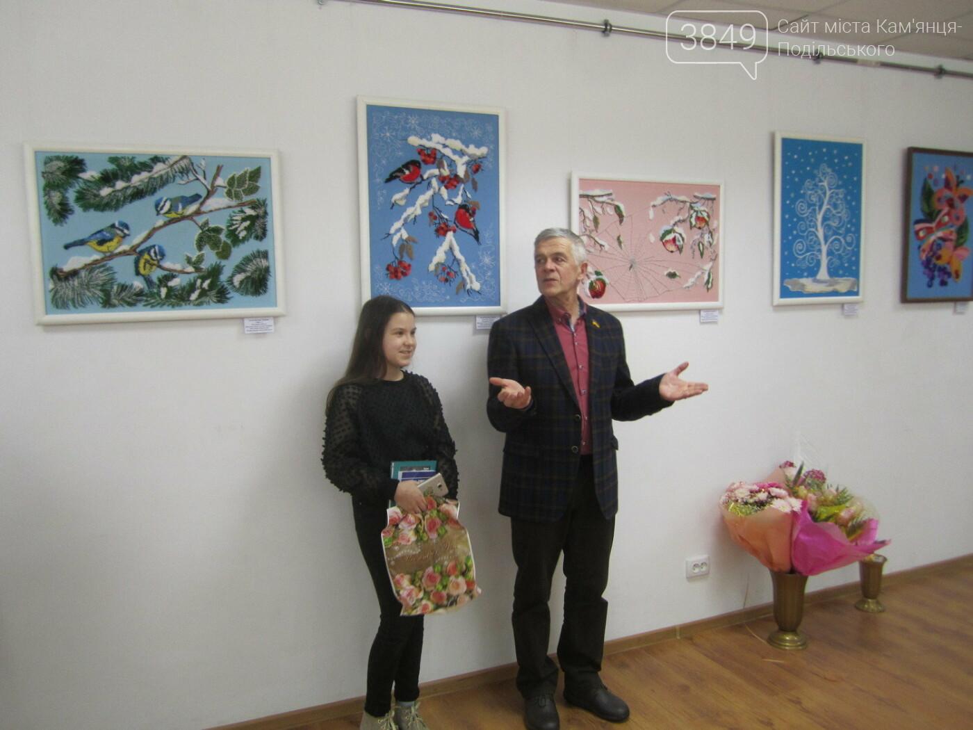 Юна Богдана Ільєва презентувала виставку гобеленів, фото-11