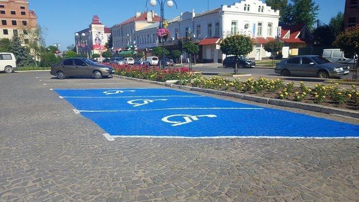 У Кам`янці створили автомобільні парковки для людей з обмеженими можливостями , фото-2