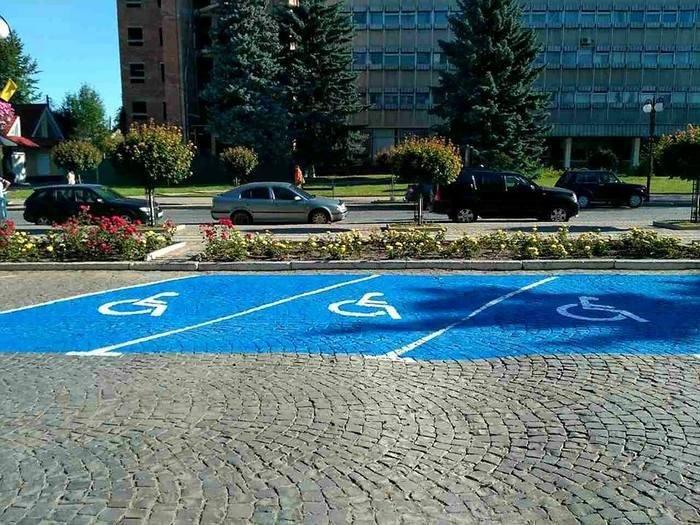 У Кам`янці створили автомобільні парковки для людей з обмеженими можливостями , фото-4
