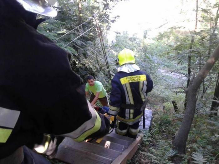Жінка травмувалась при приземленні після переправи над кам`янецьким каньйоном, фото-2