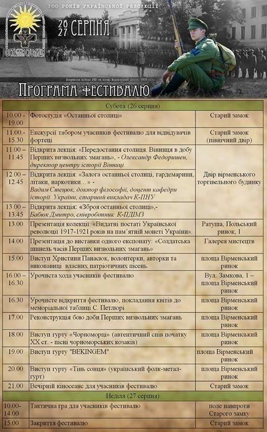Реконструкція боїв, концерти, відкриті лекції: у Кам`янці відбудеться фестиваль присвячений добі УНР (Програма), фото-1