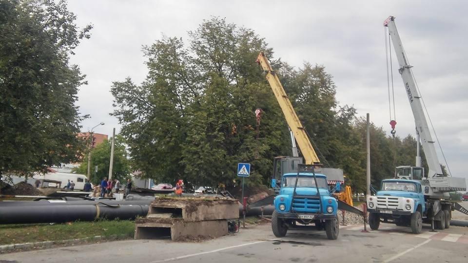 Ремонтні роботи по проспекту Грушевського, фото-2