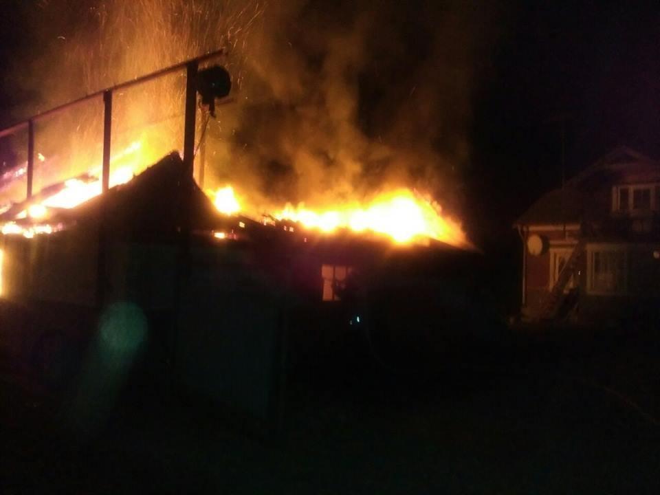 Пожежа у селі Залісся, фото-1