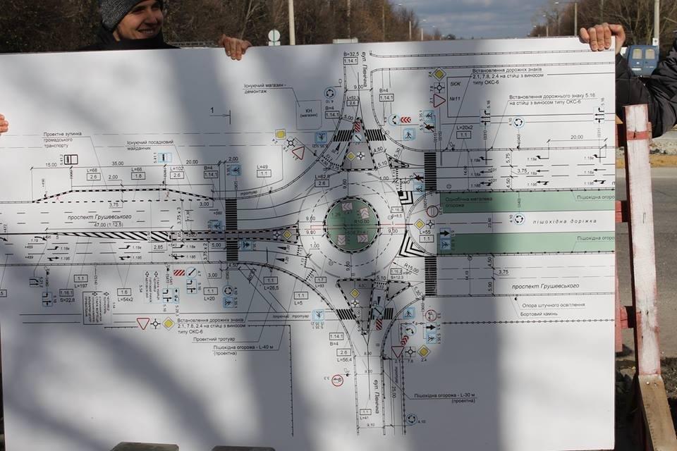 Облаштування колового руху на проспекті Грушевського, фото-1