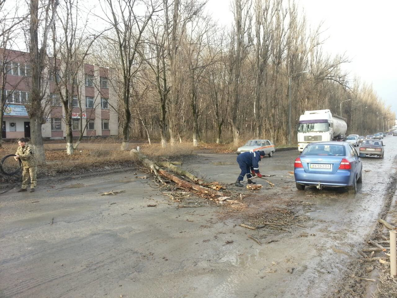 У Кам'янці-Подільському дерево перекрило рух автотранспорту, фото-2