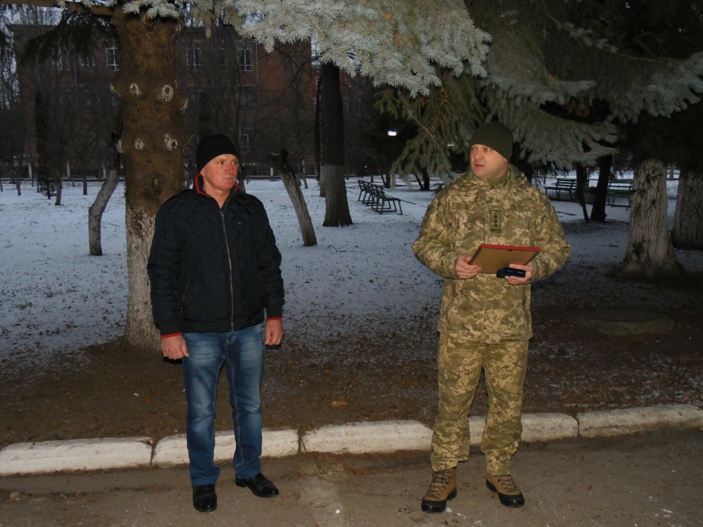 Військовослужбовці Центру розмінування розпочали новий навчальний рік із вшанування волонтерів, фото-1