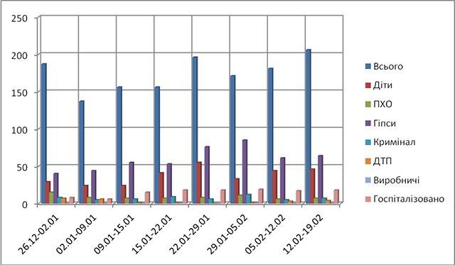 206 осіб травмувались у Кам'янці минулого тижня, фото-1