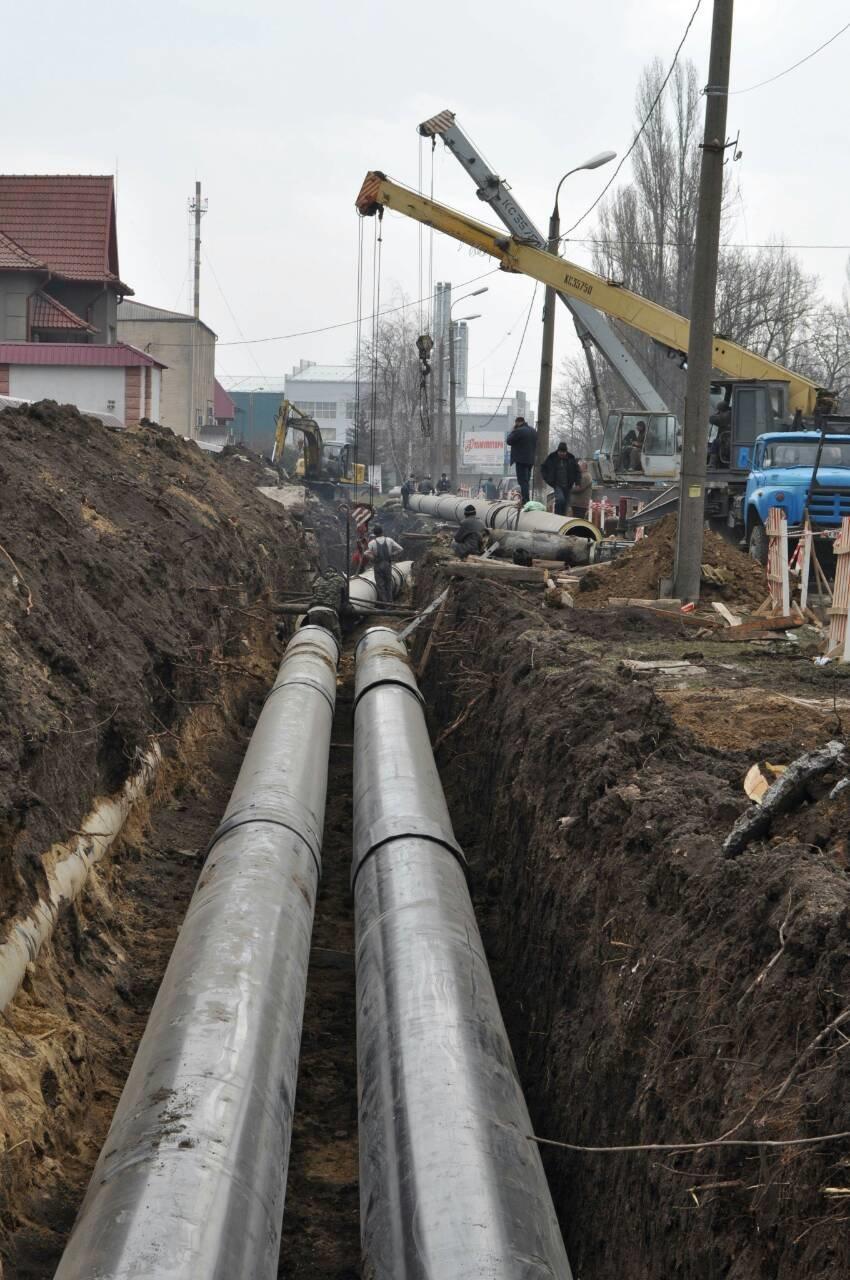 На вулиці Драй-Хмари розпочато будівництво нової тепломережі, фото-1