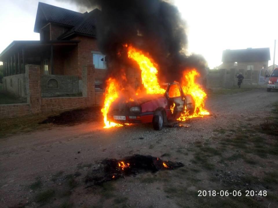 У Кам'янець-Подільському районі з невідомих причин загорівся автомобіль, фото-3