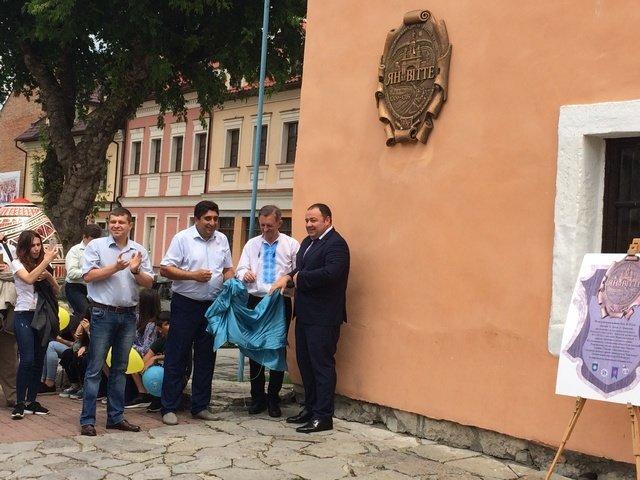У Кам'янці на будівлі Ратуші відкрили меморіальну дошку архітектору Яну де Вітте, фото-3