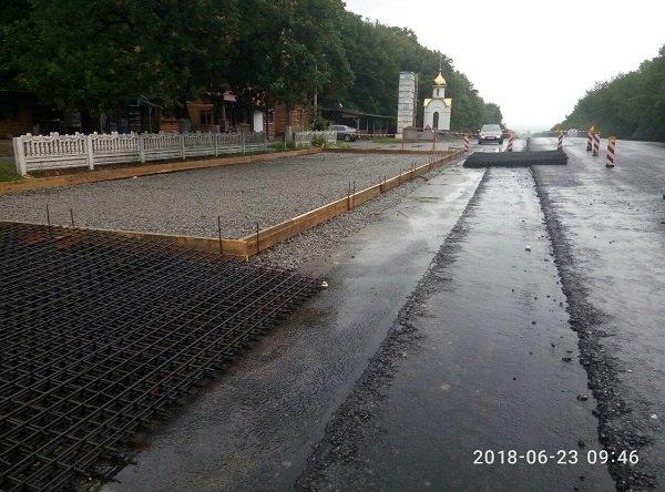"""На """"Тещиному язику"""" завершилося будівництво майданчика для зважування вантажівок, фото-1"""