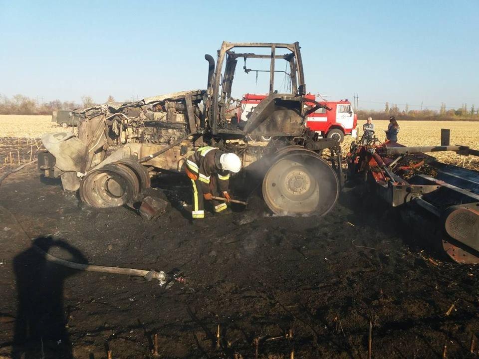 На Кам'янеччині сталась пожежа на полі, фото-1