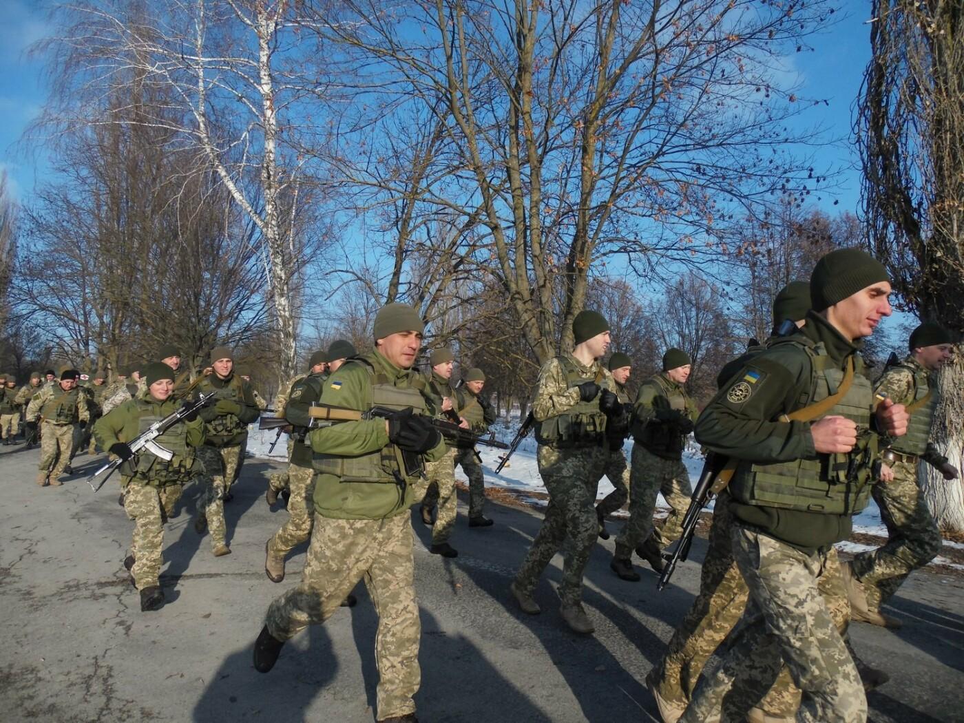 5-кілометровий марш-кидок зі штатною зброєю з нагоди 27-річниці Збройних Сил України, фото-3