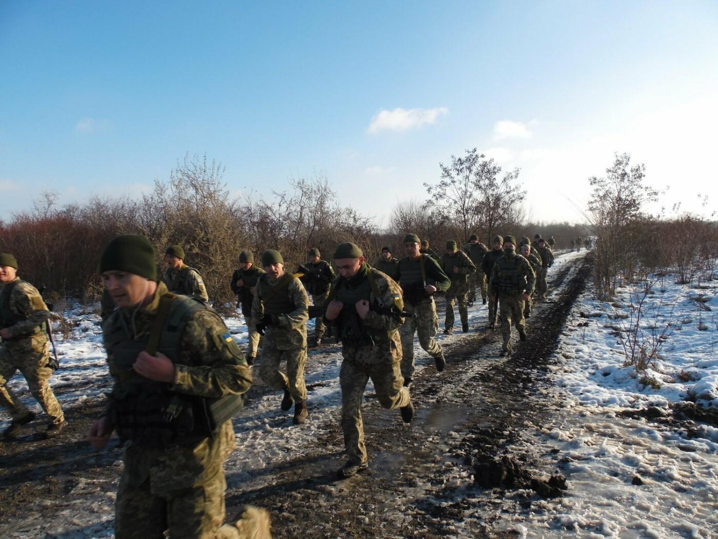 5-кілометровий марш-кидок зі штатною зброєю з нагоди 27-річниці Збройних Сил України, фото-1