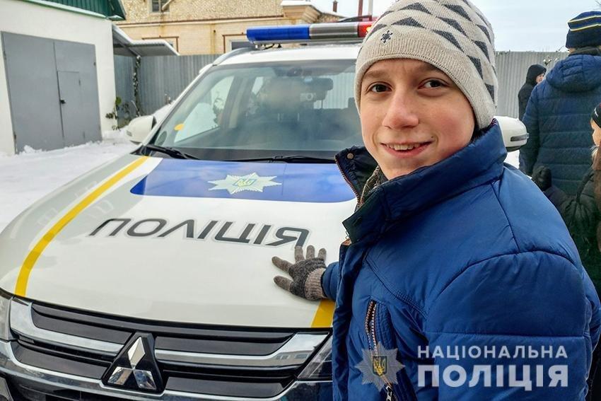 Кам'янецькі поліцейські здійснили мрію хворого на ДЦП хлопчика із багатодітної сім'ї, фото-1