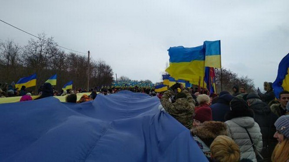 Хмельниччина та Тернопільщина з'єднали прапор України воєдино, фото-2