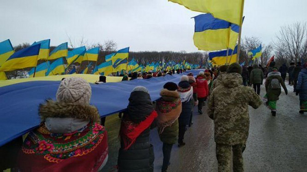 Хмельниччина та Тернопільщина з'єднали прапор України воєдино, фото-3