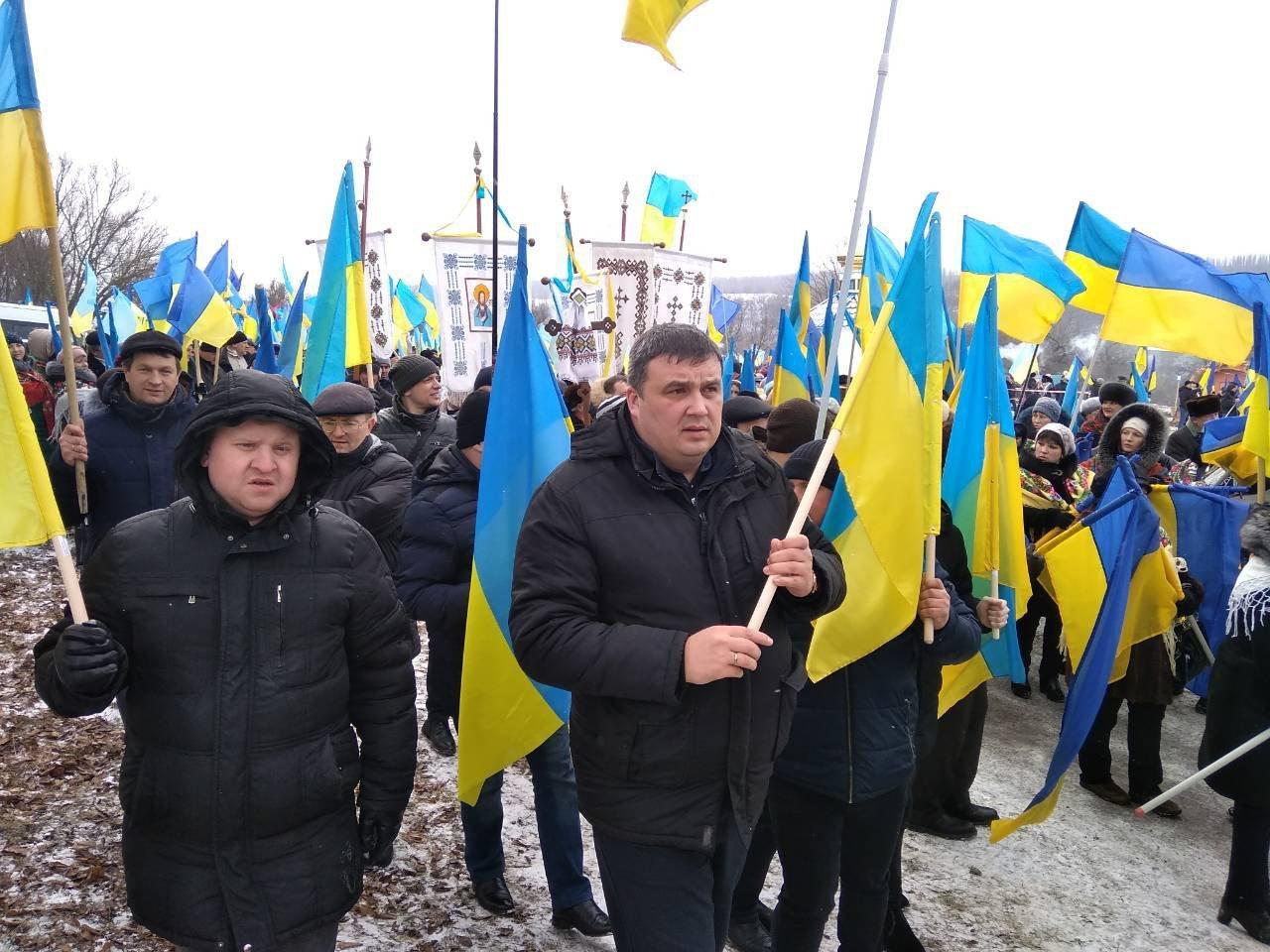 Хмельниччина та Тернопільщина з'єднали прапор України воєдино, фото-5