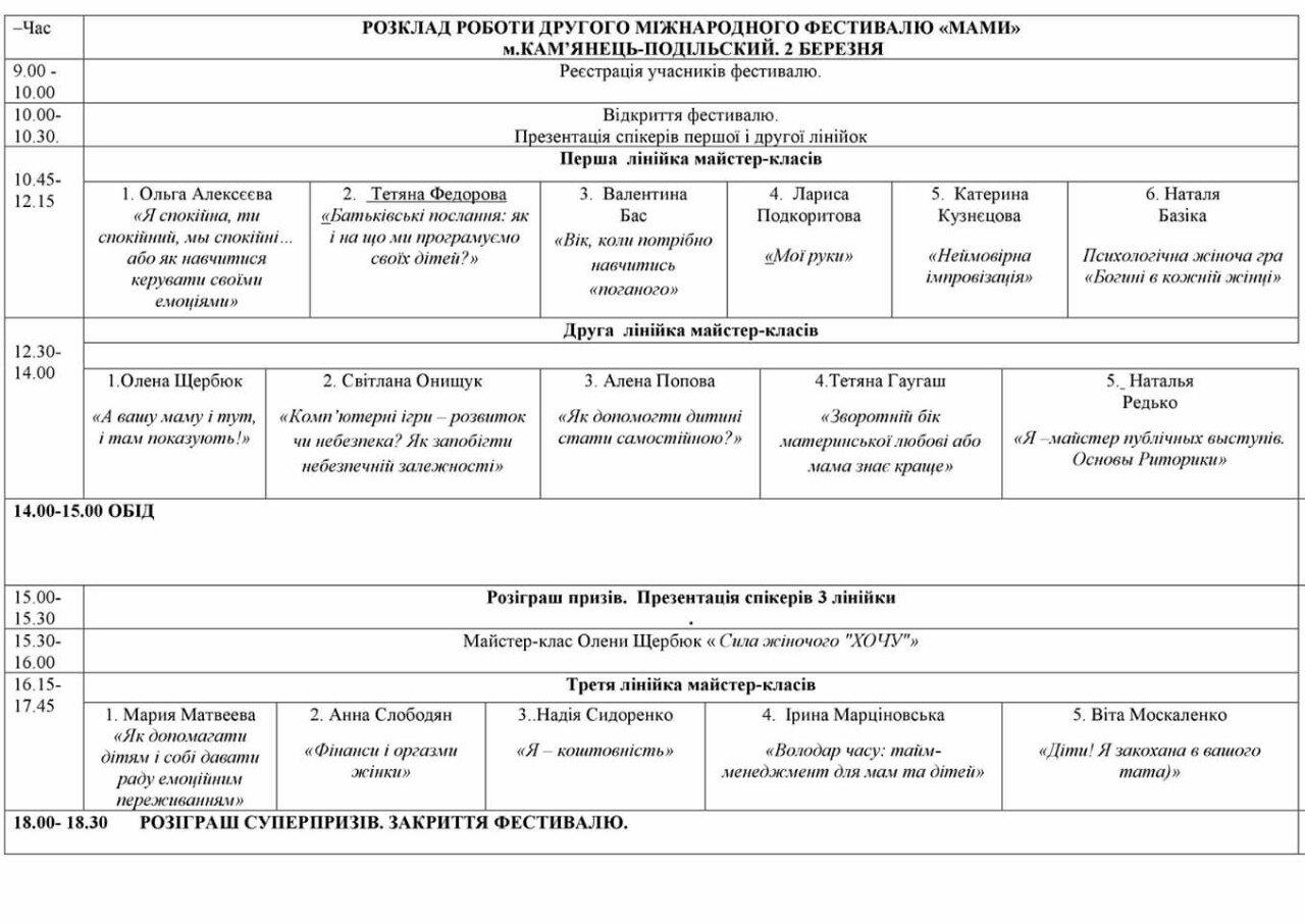 """Вперше у Кам'янці фестиваль """"Мами"""": детальна програма, фото-1"""