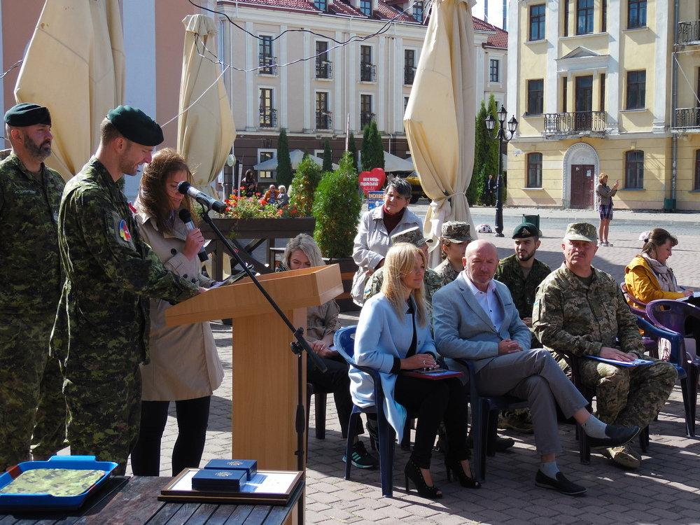 У Кам'янці-Подільському відбувся Парад медалей на честь військових інструкторів-саперів з Канади, фото-6, Фото: Центр розмінування