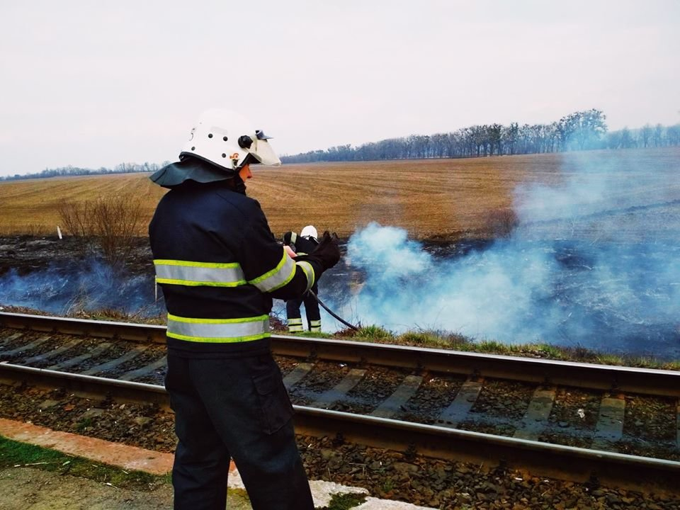 """У Кам'янці-Подільському рятувальники боролись із вогнем на відкритій території, фото-2, Фото: """"Служба порятунку 101 Кам'янець-Подільський"""""""
