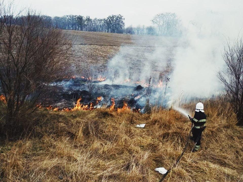 """У Кам'янці-Подільському рятувальники боролись із вогнем на відкритій території, фото-6, Фото: """"Служба порятунку 101 Кам'янець-Подільський"""""""