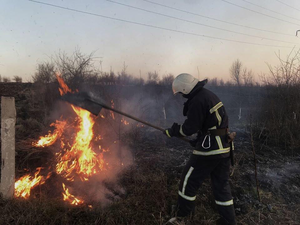 На Кам'янеччині рятувальники ліквідували загоряння сухої трави, фото-1, Фото: ГУ ДСНС України у Хмельницькій області