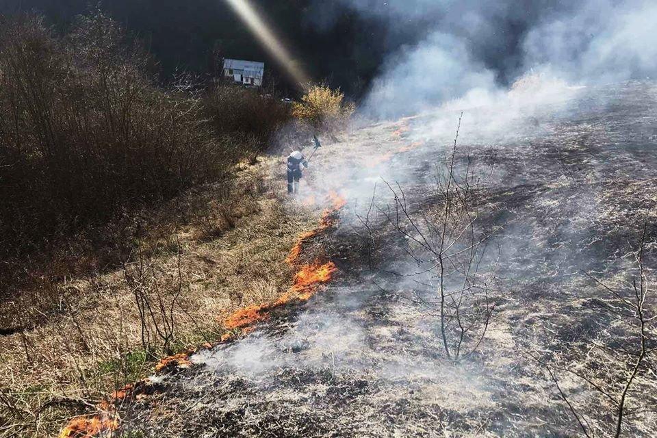 На Кам'янеччині рятувальники ліквідували загоряння сухої трави, фото-2, Фото: ГУ ДСНС України у Хмельницькій області