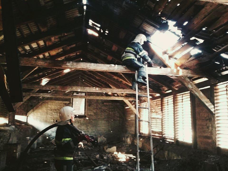"""У Кам'янці-Подільському вогонь із палаючої трави перекинувся на будівлю, фото-1, Фото: """"Служба порятунку 101 Кам'янець-Подільський"""""""