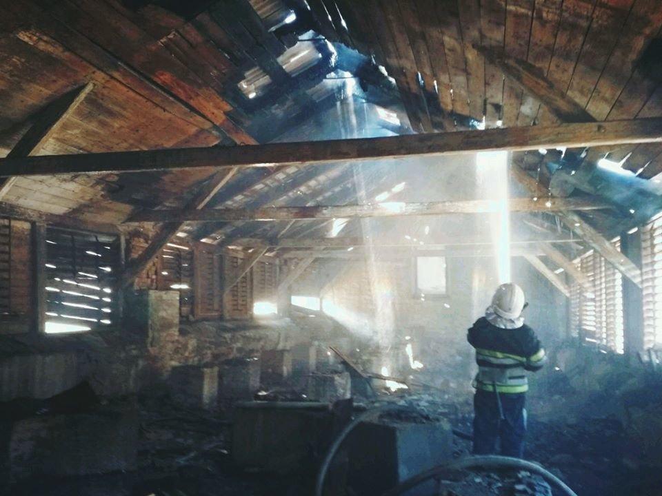 """У Кам'янці-Подільському вогонь із палаючої трави перекинувся на будівлю, фото-3, Фото: """"Служба порятунку 101 Кам'янець-Подільський"""""""