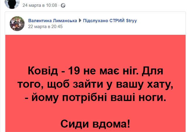 """Кам'янчанина оштрафували за допис у """"Фейсбуці"""" про коронавірус, фото-1"""