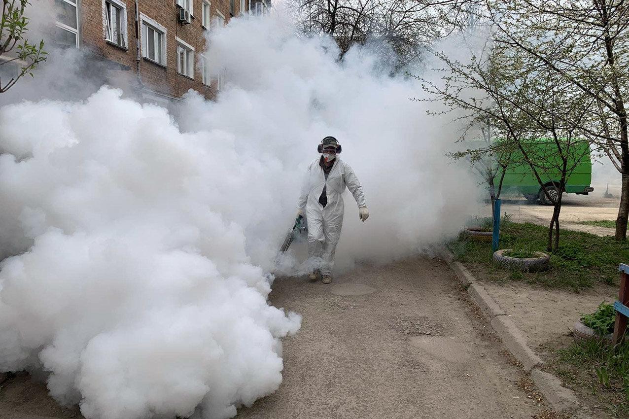 Під час великодніх свят у Кам'янці-Подільському провели масові дезінфекції, фото-7, Фото: ГУ ДСНС України у Хмельницькій області