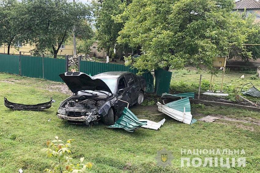 На Кам'янеччині молодик автомобілем пошкодив приватну власність, фото-1