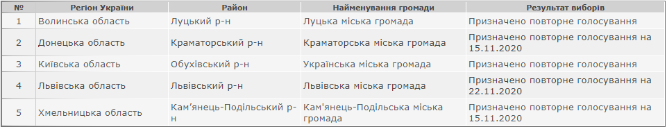 Офіційні результати виборів Кам'янець-Подільського міського голови, фото-1
