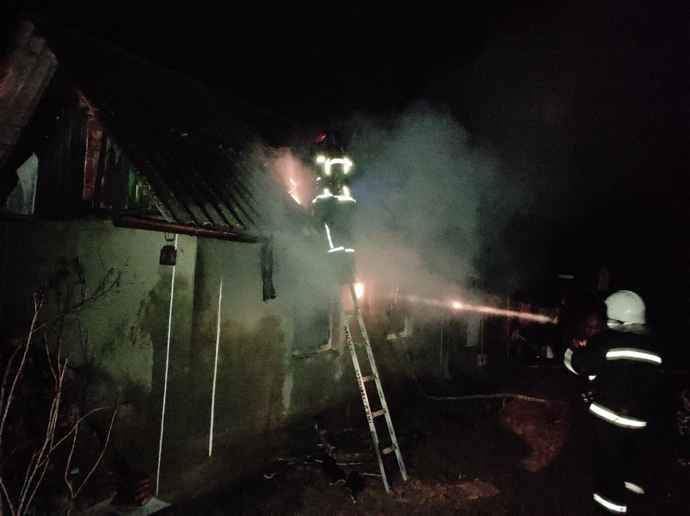 "Пожежа житлового будинку в с. Рихта, Фото: ""Служба порятунку 101 Кам'янець-Подільський"""