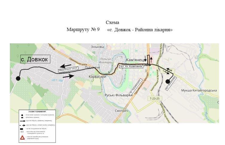 Схема маршрутів