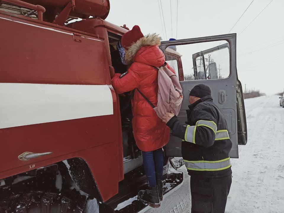 """Діти з Китайгородського ліцею, Фото: """"Служба порятунку 101 Кам'янець-Подільський"""""""
