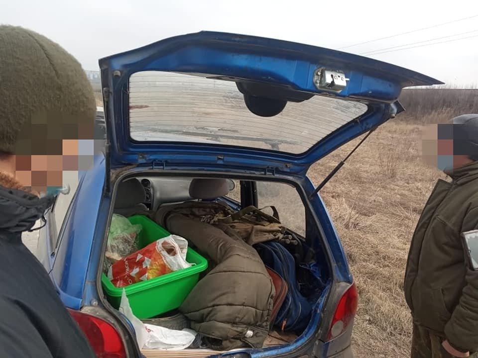 """Затримання """"браконьєра"""", Фото: Кам'янець-Подільське районне управління поліції"""