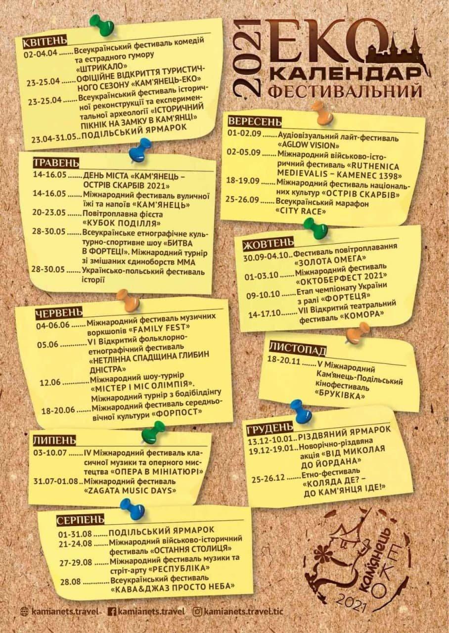 У Кам'янці-Подільському запланували понад 50 фестивалів, фото-1