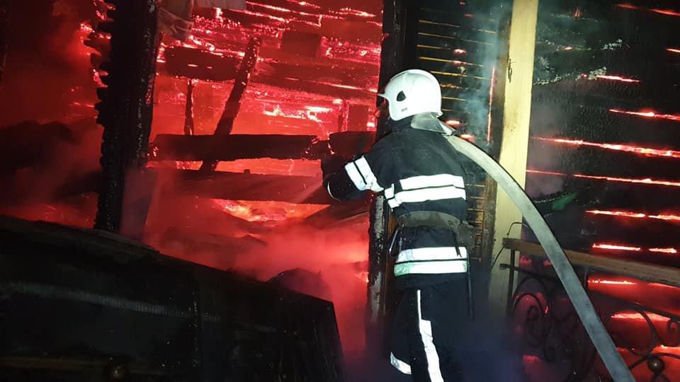 """Пожежа у Боговиці, Фото: """"Служба порятунку 101 Кам'янець-Подільський"""""""