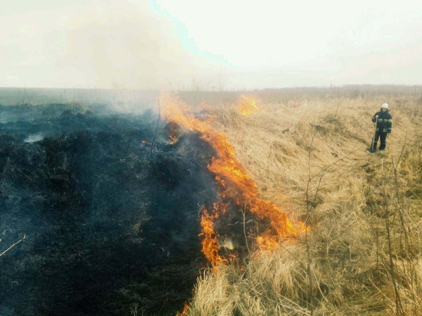 На Кам'янеччині ДСНСівці ліквідували пожежу сухої трави, фото-2
