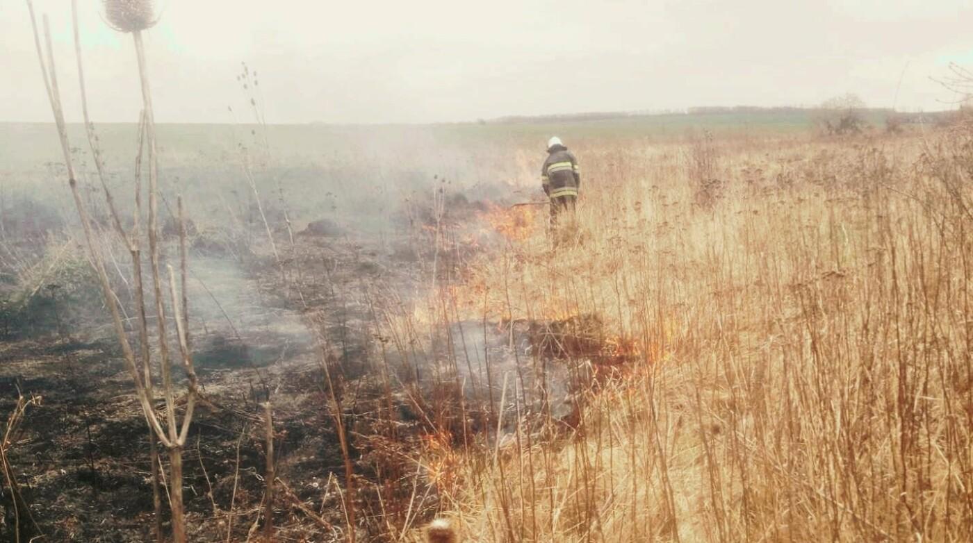 На Кам'янеччині ДСНСівці ліквідували пожежу сухої трави, фото-1