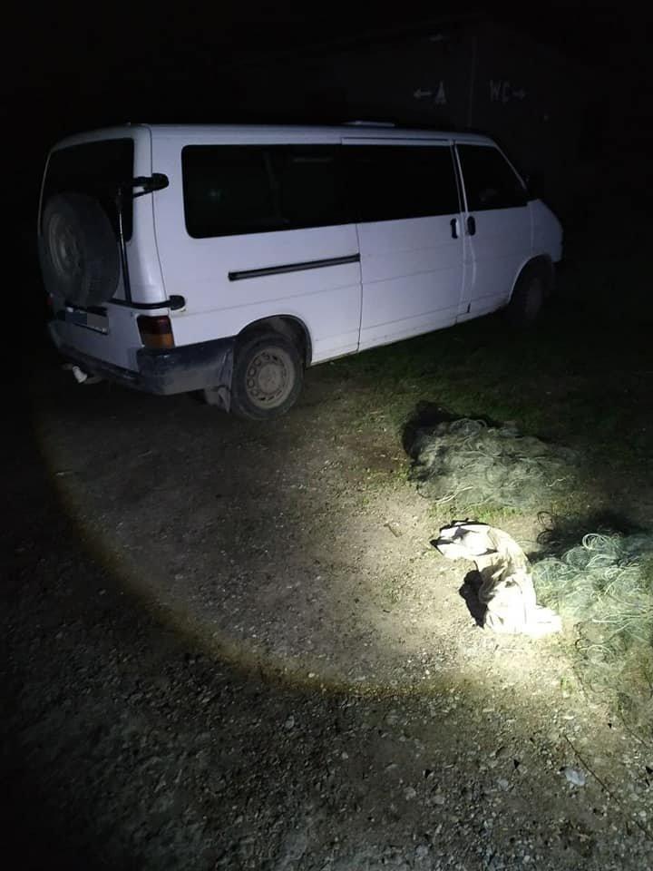 На Кам'янеччині на березі річки виявили автівку, заповнену рибою на 50 тисяч гривень, фото-1