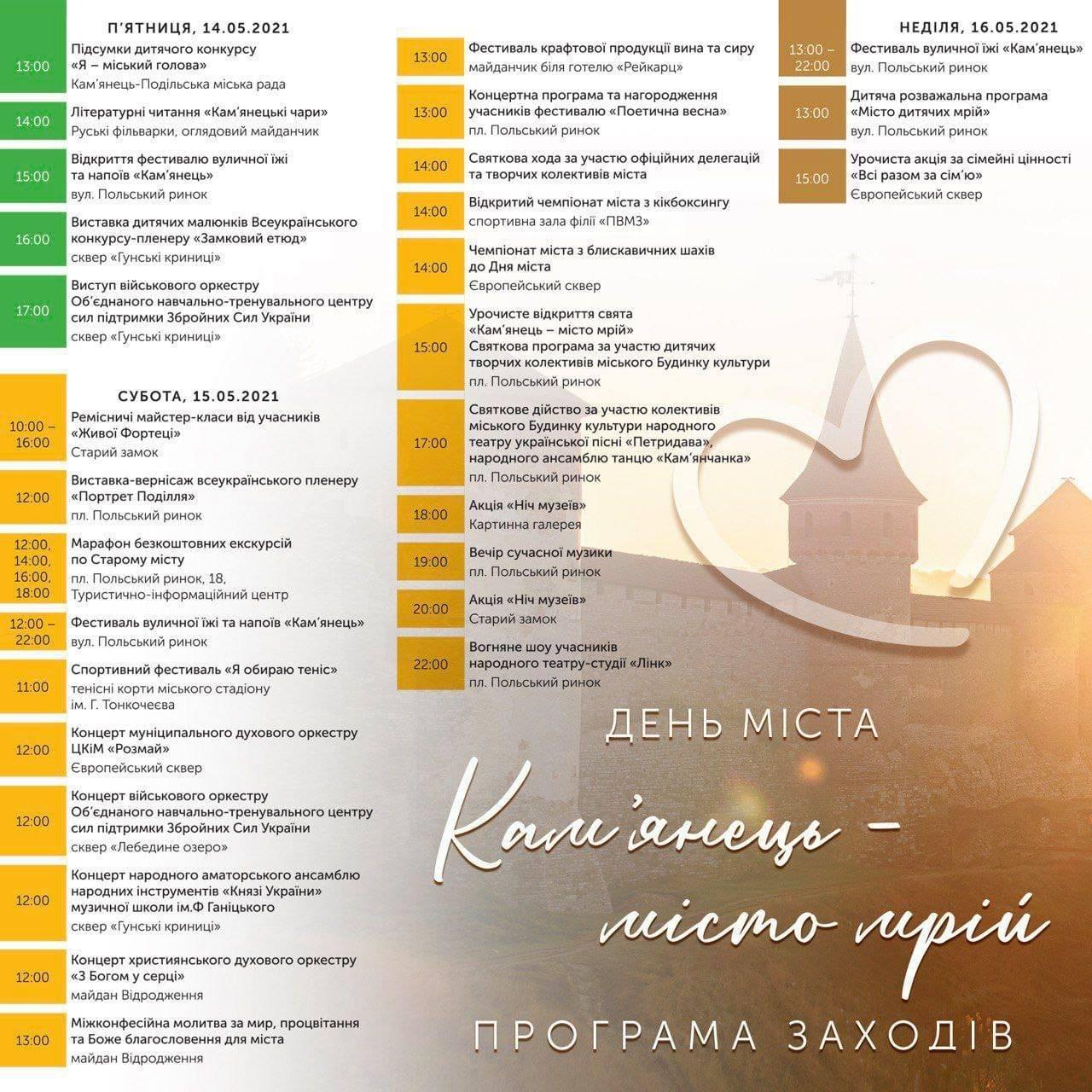 День міста у Кам'янці-Подільcькому: програма заходів, фото-1