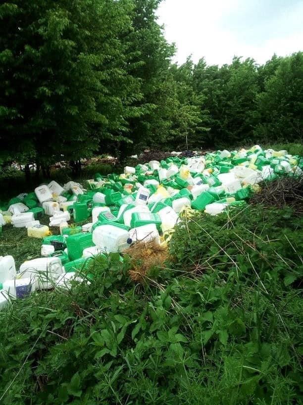 На Кам'янеччині екологи виявили в лісі звалище каністр від пестицидів, фото-3, Фото: Державна екологічна інспекція у Хмельницькій області
