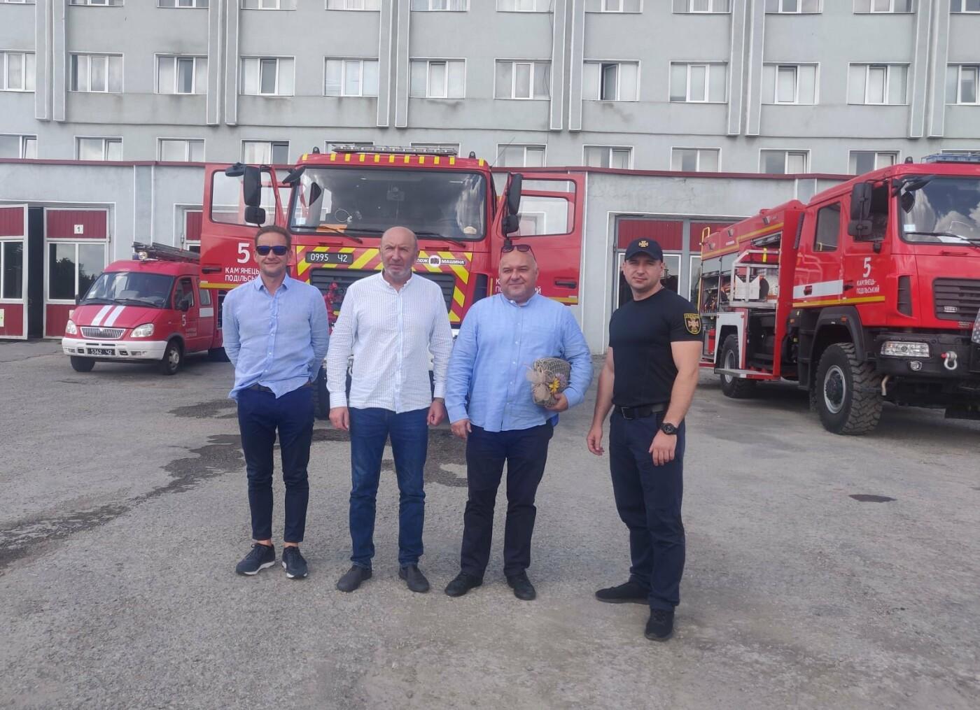 Польскі гості у Кам'янці, Фото: пресслужба порятунку 101 Кам'янця-Подільського